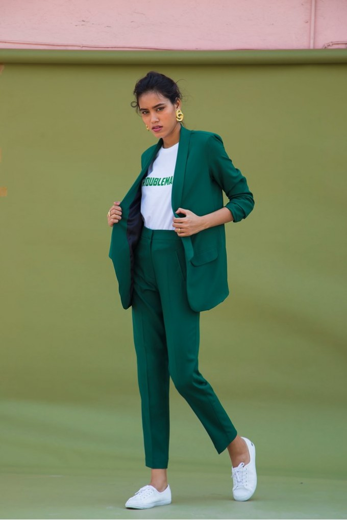 Green Blazer Set