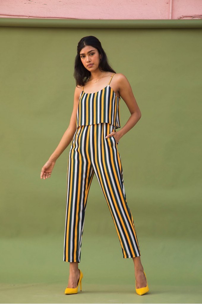 Multicolored Jumpsuit in stripes