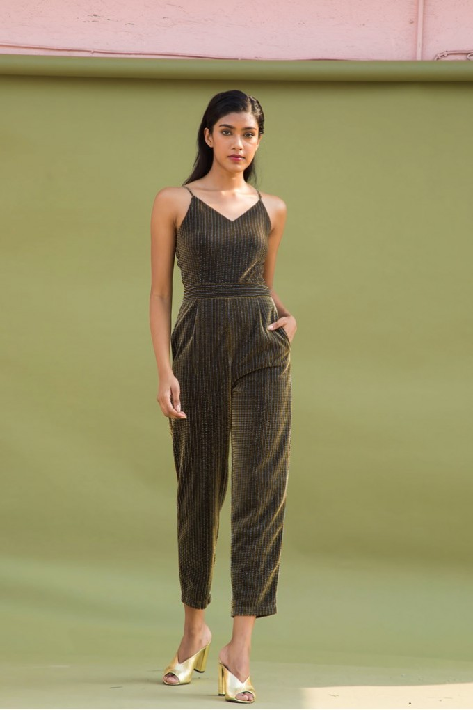 Gold and Silver Party Jumpsuit