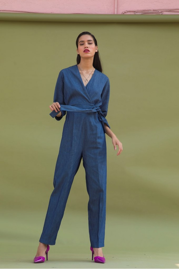 30737e2523d2 Buy Long Denim Jumpsuit at Urban Suburban