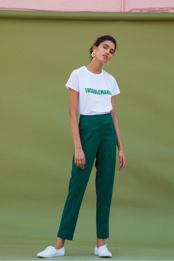 Green Formal Pants