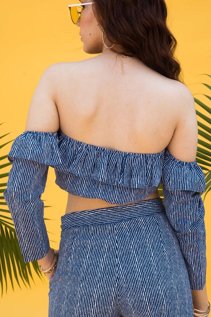 Off shoulder top and pant set