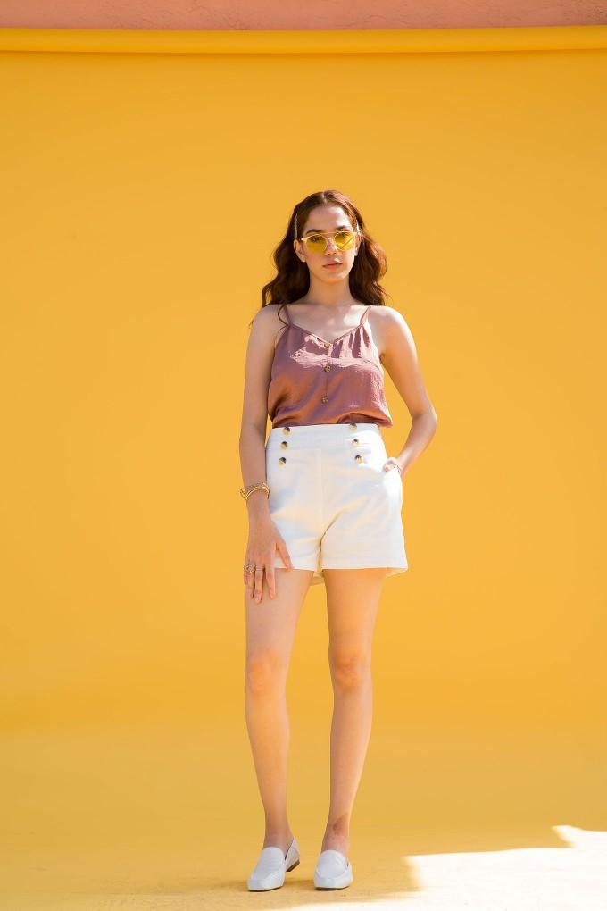 Blush camisole top and skort set