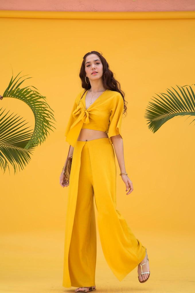 Yellow top and pant set