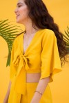 Yellow top and pant set