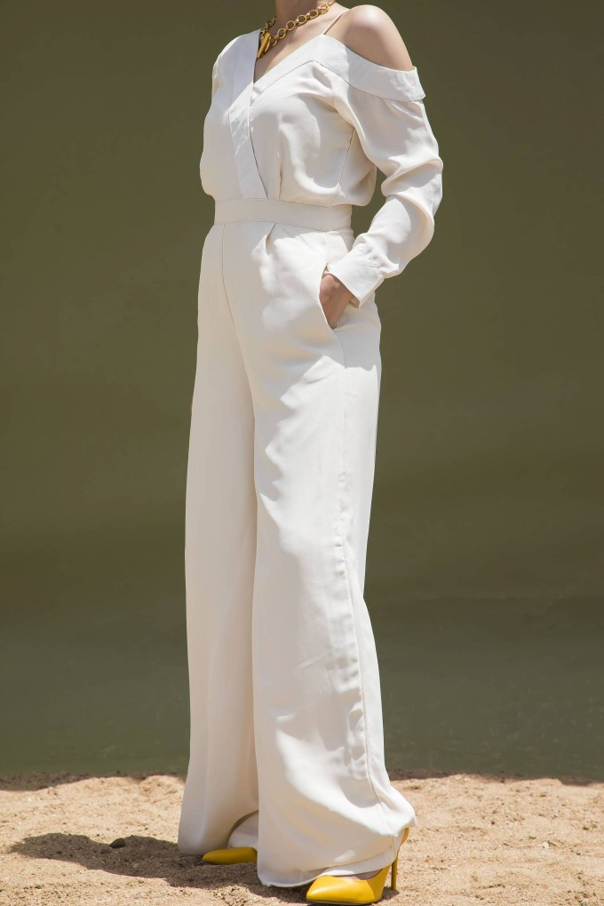 925a23a74 Jumpsuits - Buy Long Cream Party Jumpsuit   Urban Suburban   India