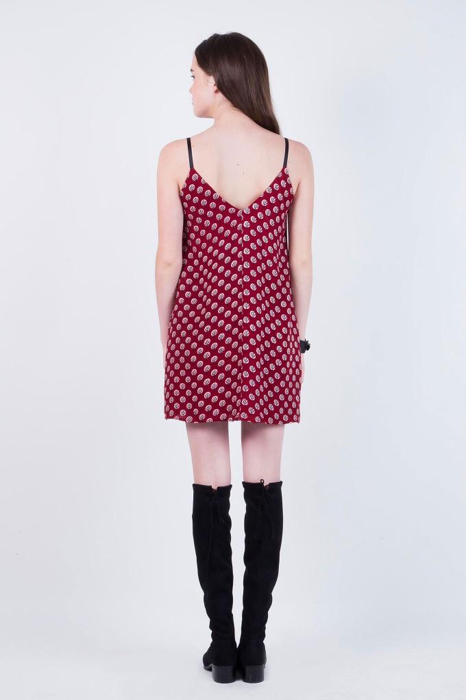 Bridget Modal Indian Print Spaghetti Dress