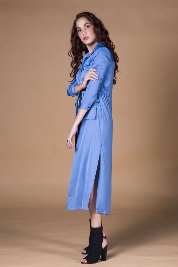 Sky Blue Long shirt Dress